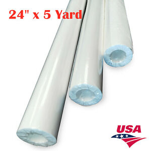 Usa 24 X 5 Yard Printable Heat Transfer Vinyl White Color Eco Solvent Ink