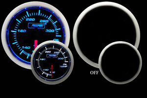 Prosport 52mm Universal Oil Temperature Gauge W Sender Blue White