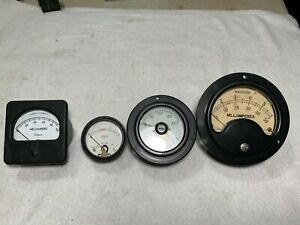 4 Weston Simpson Western Electric D c Microamps Milliamperes Volts Gauges