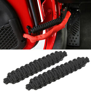 Black Auto Door Limit Strap Bandage Rope For Jeep Wrangler Jl Jk Tj 1997 Parts