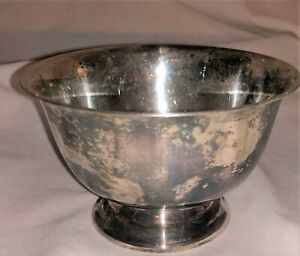 Paul Revere Reproduction Fb Rogers Silver Co Silver Plated 3 5 Bowl