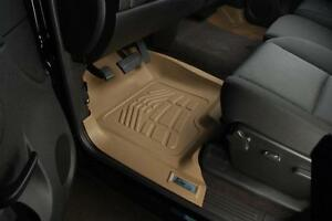 Toyota Tacoma double Hook 2012 2015 Sure fit Floor Mats Liners Front Tan