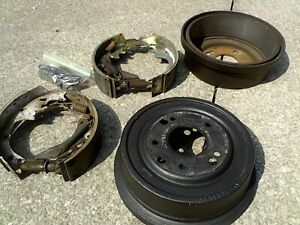 Used 64 72 A Body Front Brake Drums Shoes Backing Plates And Hardware