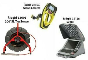 Ridgid 200 Sl Ts Color Reel 63603 Seektech Sr 60 Locator 22163 Cs12x 57288