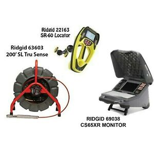 Ridgid 200 Sl Ts Color Reel 63603 Seektech Sr 60 Locator 22163 Cs65xr 69038