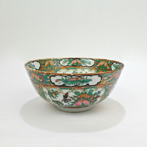 Old Or Antique Chinese Export Porcelain Rose Medallion Bowl Pc