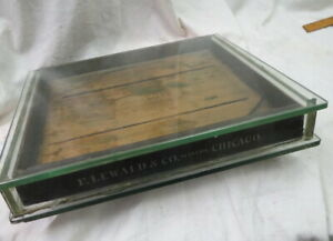 1880 Era Store Counter Top Jewelry Display Case Advertising F Lewald Co Chicago