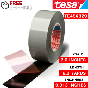 Gray Smooth Silicone Coated Wrapping Tape Tesa Te456329 2 Wide X 9 Yd Length