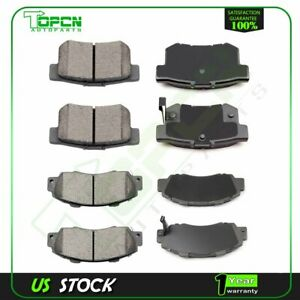 Front Rear Brake Ceramic Pads For 1997 1998 Acura Integra Type R Anti Noise