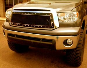 2010 2013 Toyota Tundra Double Framed Grille Insert bmf Offroad Death Metal