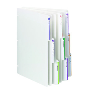 Smead Viewables Three ring Binder Index Dividers 1 3 cut Tab Letter Size 75