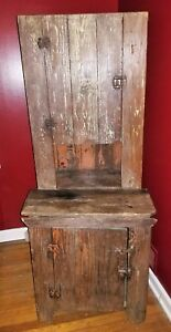Early Primitive Step Back Cupboard
