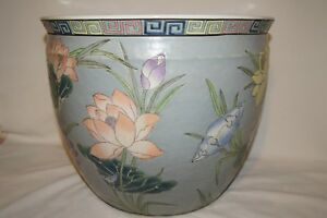 Gorgeous Large Chinese Planter With Maker Mark 15