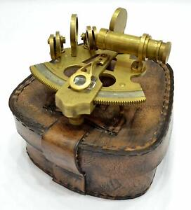 Sextant 4 Collectible Antique German Working Marine Vintage With Leather Box