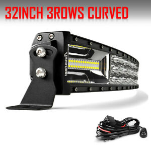 Tri Row 32inch 2160w Curved Led Light Bar Spot Flood Truck Offroad Vs 30 34 36