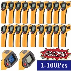 1 100pcs Temperature Gun Non contact Infrared Ir Digital Thermometer Lot Mx
