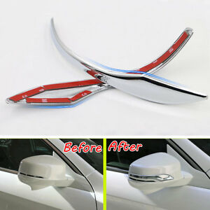 2pcs Abs Chrome Rearview Mirrors Cover Trim Strip For Honda Accord Mk9 2013 2015