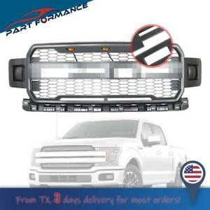 Metal Gray Raptor Styl Front Bumper Grille Upper Grill For Ford F 150 2018 2019