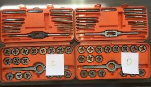 Tungsten Steel Tap And Die Set Professional Quality Vintage Metalwork Incomplete