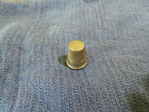 Silver Nickel Thimble Size 8 Sbc Simon Brothers Co Sewing Crafts Usa