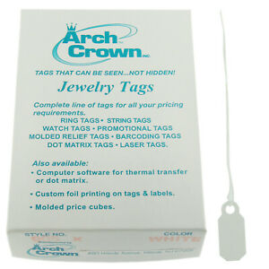 Arch Crown Merchandise Jewelry Price Tag White Square String Style 1000 Pcs
