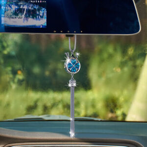 Car Interior Decor Accessories Crystal Crown Pendant Car Hanging Ornament