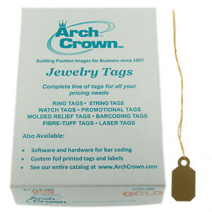 Arch Crown Merchandise Jewelry Price Tag Gold Square String Style 1000 Pcs