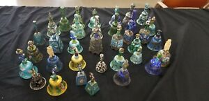 33 Antique Chinese Silver Enamel Bells Figural