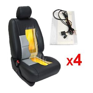 Heated Seat 2 4 Seats 4 8 Pads Universal 2 Dial 5 Level Switch Seat Heater Kit