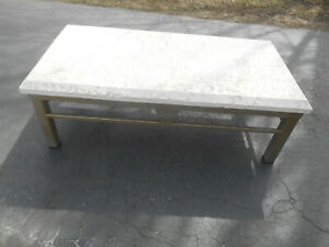 Mid Century Palm Beach Regency Coral Top Coffee Table By Koralith Collection
