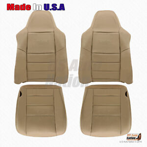 2002 2007 Ford F250 F350 F450 F550 Lariat Front Bottoms tops Leather Cover Tan