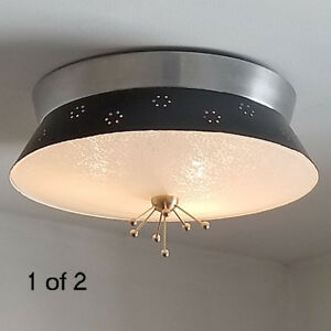 459b 60s 70s Vintage Ceiling Light Lamp Fixture Atomic Midcentury Eames Retro