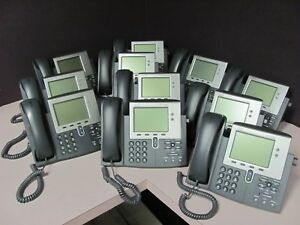 Cisco Cp 7941g Voip Telephone Phones Lot Of 11 Screens Tested Nice Condition