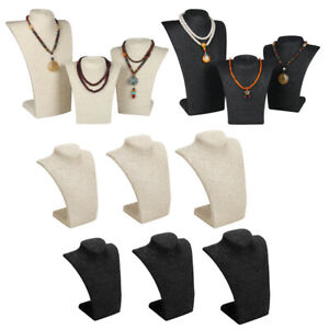 6pcs Necklace Pendant Display Bust Mannequin Jewelry Display Stand 3 Sizes