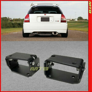 Adjustable Rear Spoiler Wing Riser Jdm Style For Honda Civic Ek 1996 2000 Black