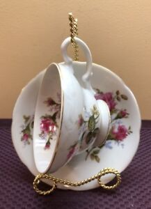 A658t Vintage Royal Sealy Teacup Saucer Bone China Made In Japan