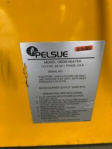 Pelsue Model 1660 B Portable Heater