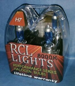 Blue White H7 Xenon Halogen Hid Foglights Bulbs 8000k