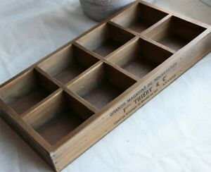 8 Slots Antique Style Wood Tray