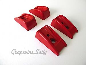 Wedgewood Vintage Stove Parts 4 Oven Door Red Handle Bakelite Trim 2 Per Handle