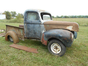 1940 Ford Pickup Truck Hot Rat Rod Gasser Project Great Start All Steel Pick Up