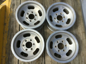 Set 15x7 6 Lug Slot Wheels 4x4 Hot Rod Rat Pickup Chevrolet Mini Truck Izuzu Wow