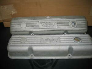 Vintage Ford Fe Weiand Aluminum Valve Covers 352 360 390 410 427 428 Engines