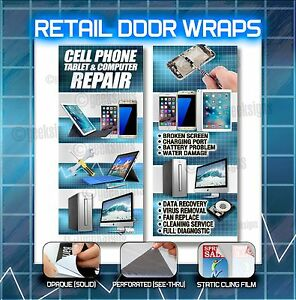 Cell Phone Tablet Computer Retail Door Wraps Sign Poster Banner Galaxy Iphone