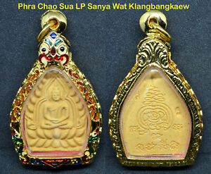 Phra Chao Sua Lp Sanya Protect Rich Lucky Real Wealthy Thai Buddha Amulet Case01