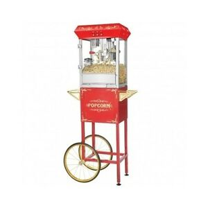 Commercial 8 ounce Popcorn Machine Cart Stand Kettle Party Movie Theater Snacks