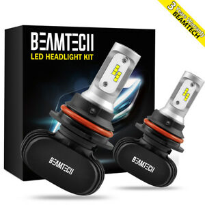 Beamtech 8000lm 9007 Led Headlight Bulbs Csp Chips High Low Conversion Kit 6500k
