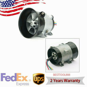 12v Universal Car Electric Turbine Power Turbo Charger Tan Boost Air Intake Fan
