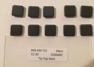 Tip Top Ceramic Inserts Sng 434 T22 Qty 10 New