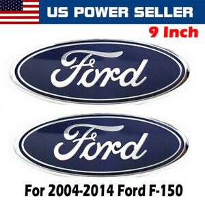 2004 2014 Ford F 150 Blue Oval Front Grille Rear Tail Gate 9 Inch Logo